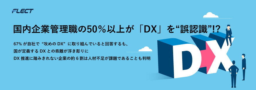 企業と顧客がデジタルでつながる「攻めのDX」を支援するフレクト、 企業のDX推進に関する実態調査レポートを発表
